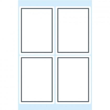HERMA Etiketten mit grauem Rand 40 x 55 mm 6 Blatt weiß