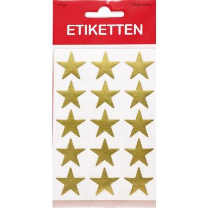 Sticker \´´Sterne\´´ 3 Blatt gold