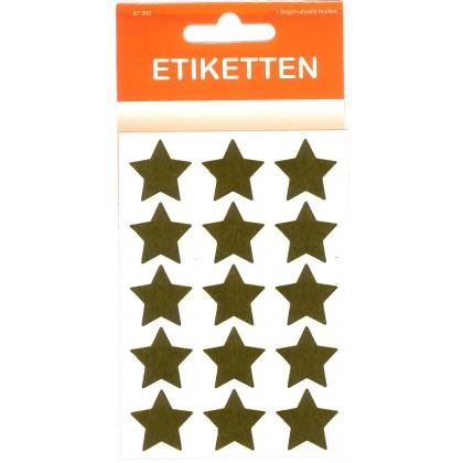 Sticker \´´Sterne\´´ gold