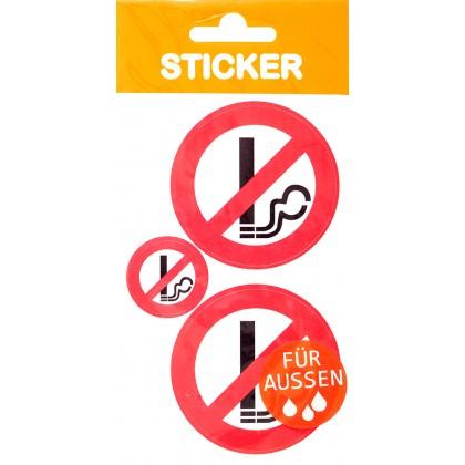 Sticker \´´Rauchen verboten\´´ rot
